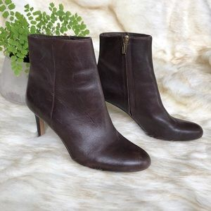 "Vince Camuto ""Cloey"" brown leather ankle boots 7.5"